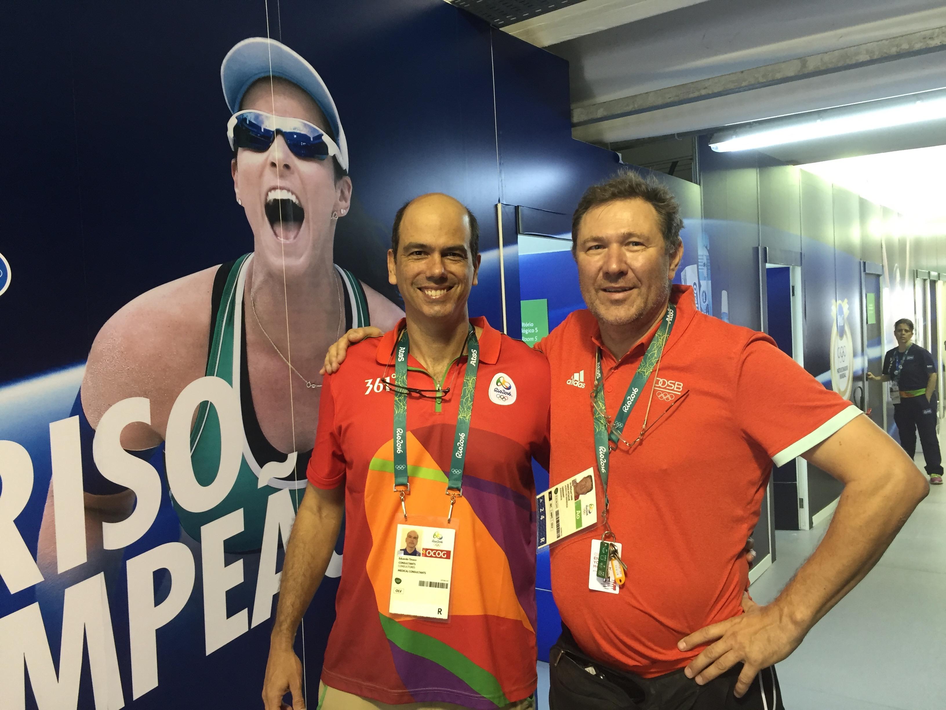 Eduardo Tinoco Leiter der Zahnklinik im Olympischen Dorf